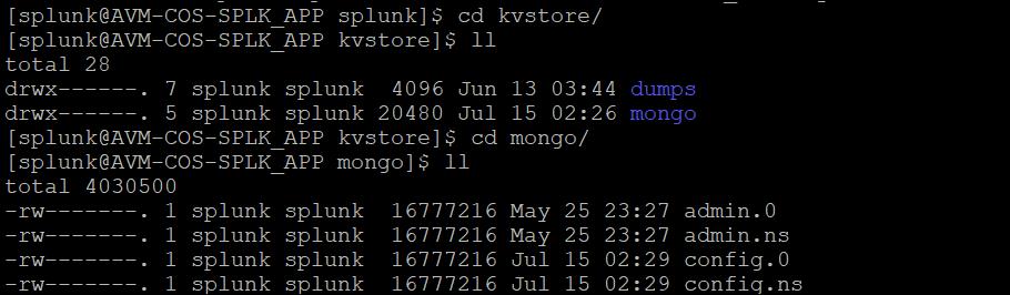splunk kv store errors 8
