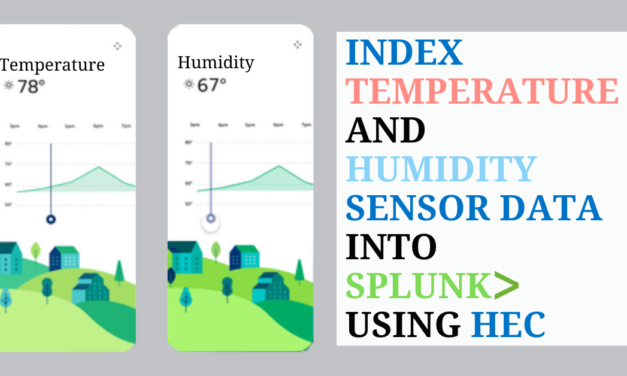 Index Temperature and Humidity Sensor Data into Splunk using HEC